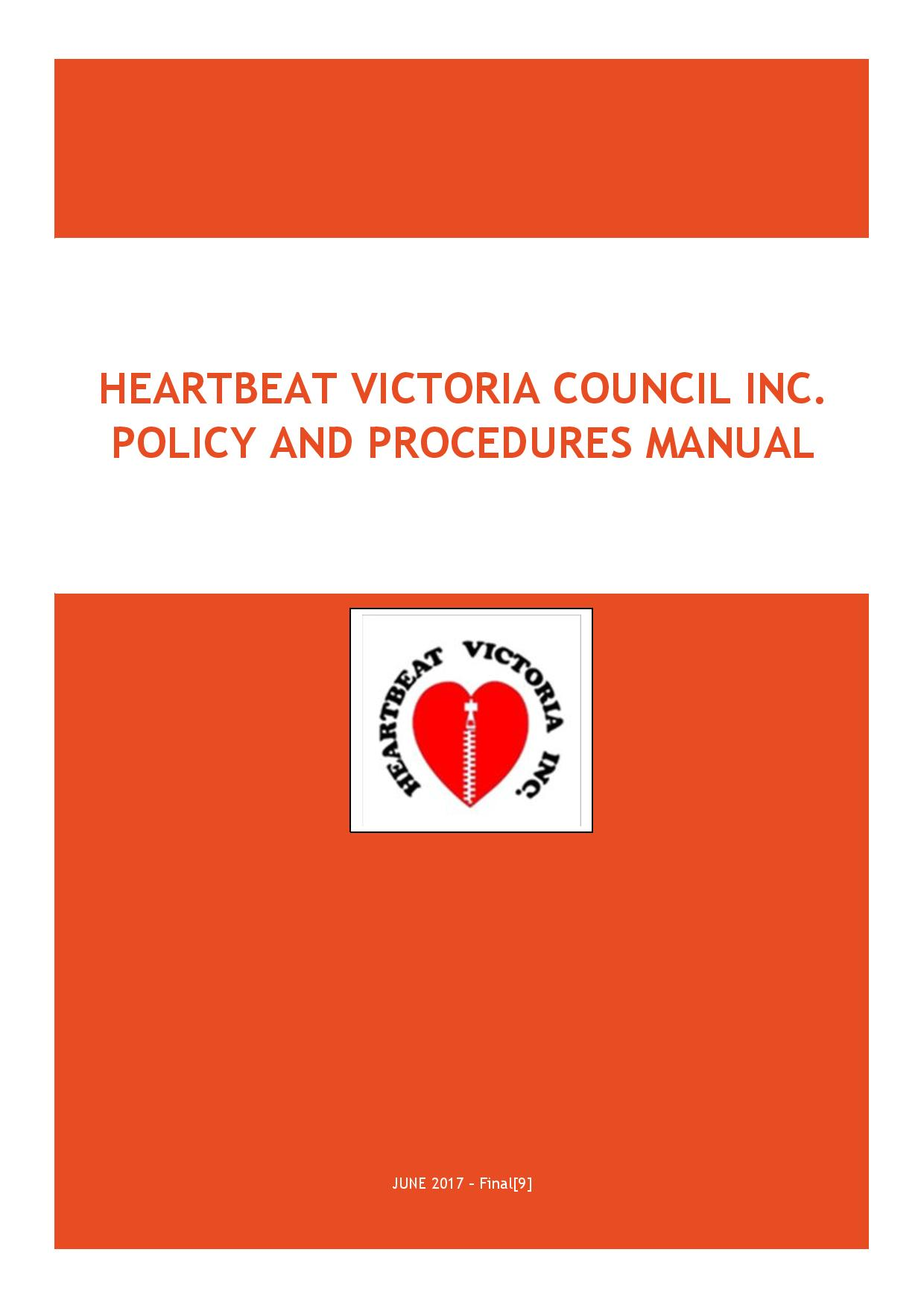 Heartbeat Victoria Policy and Procedures Manual