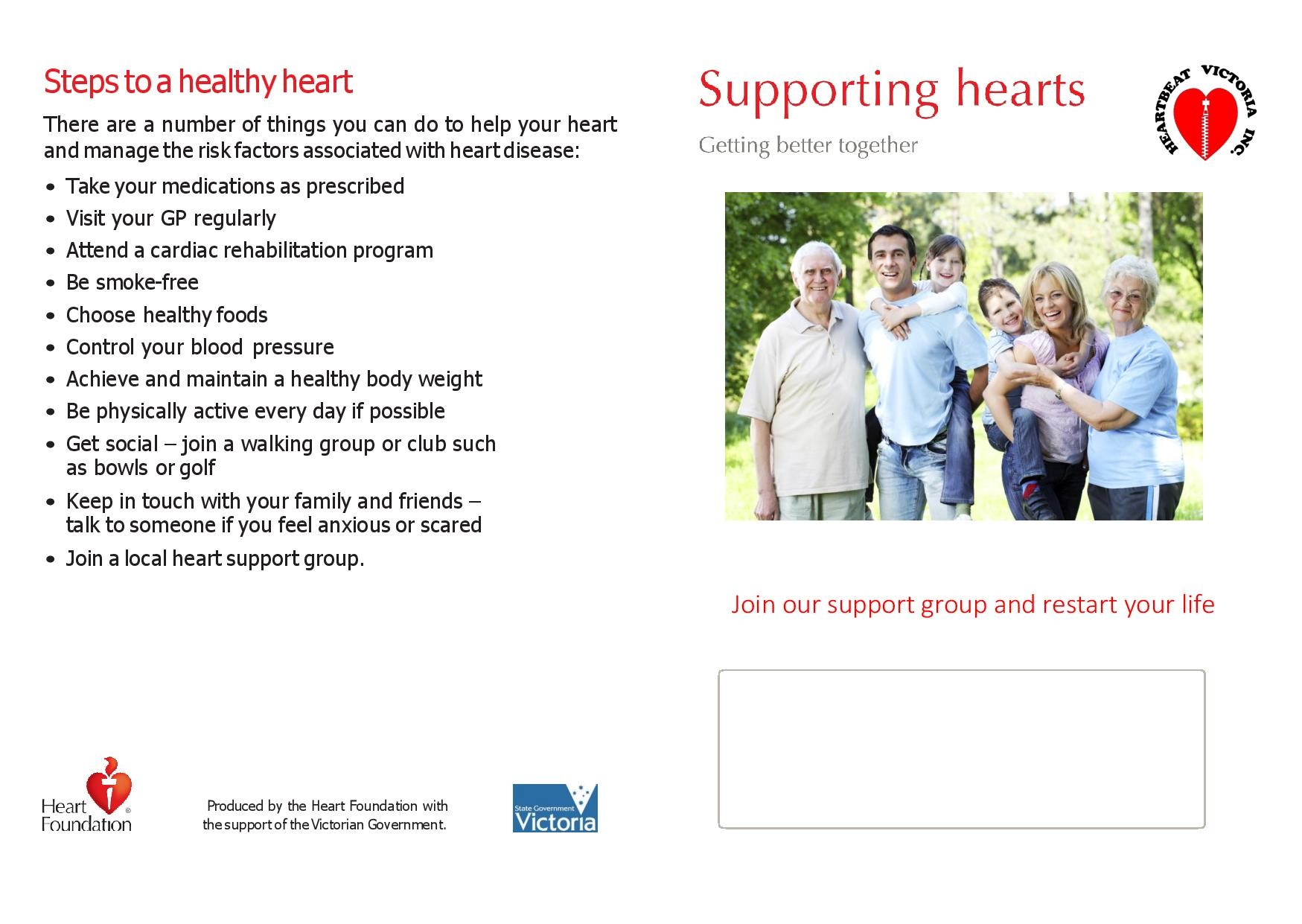 Supporting Hearts Brochure