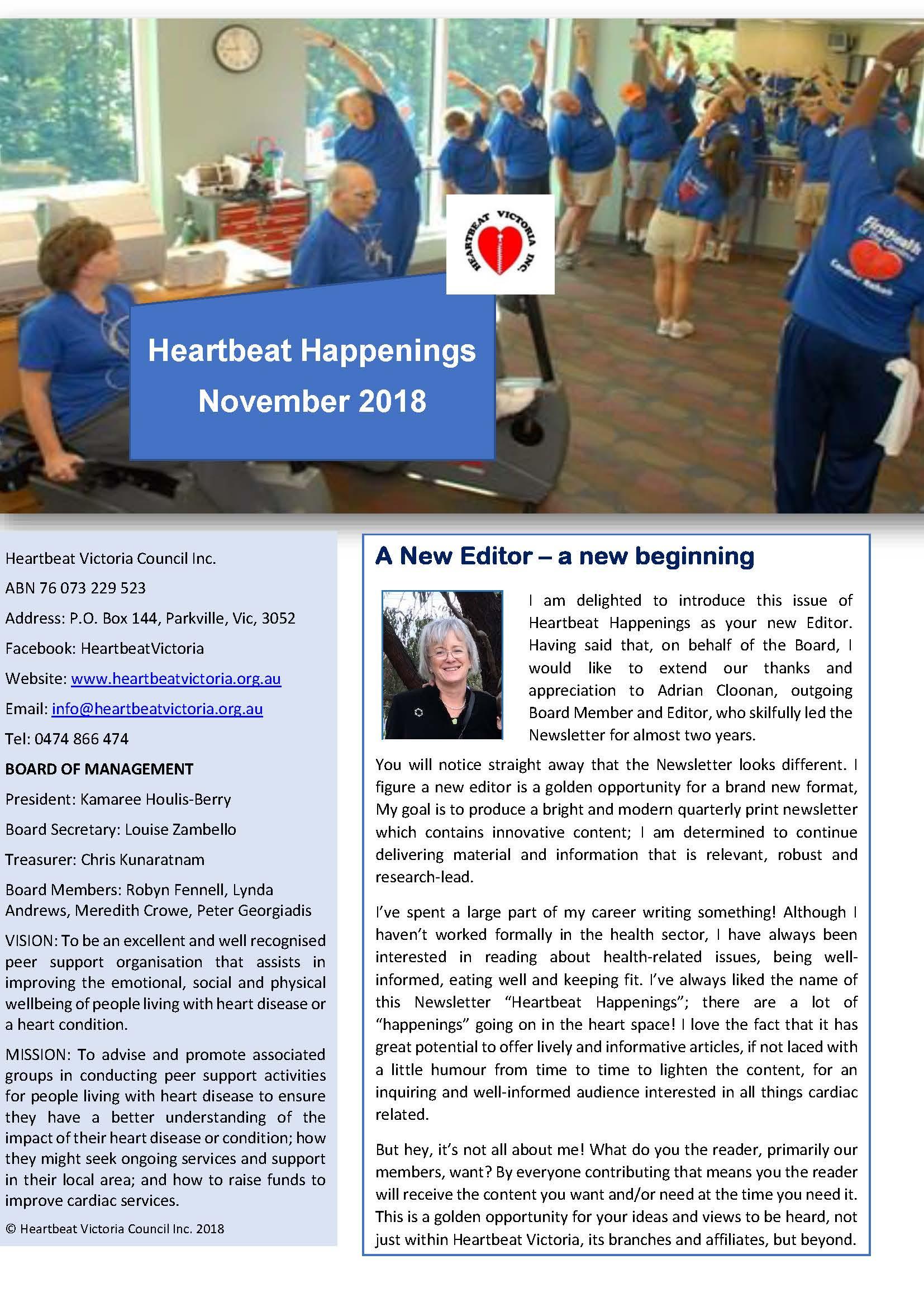 Heartbeat Happenings November 2018
