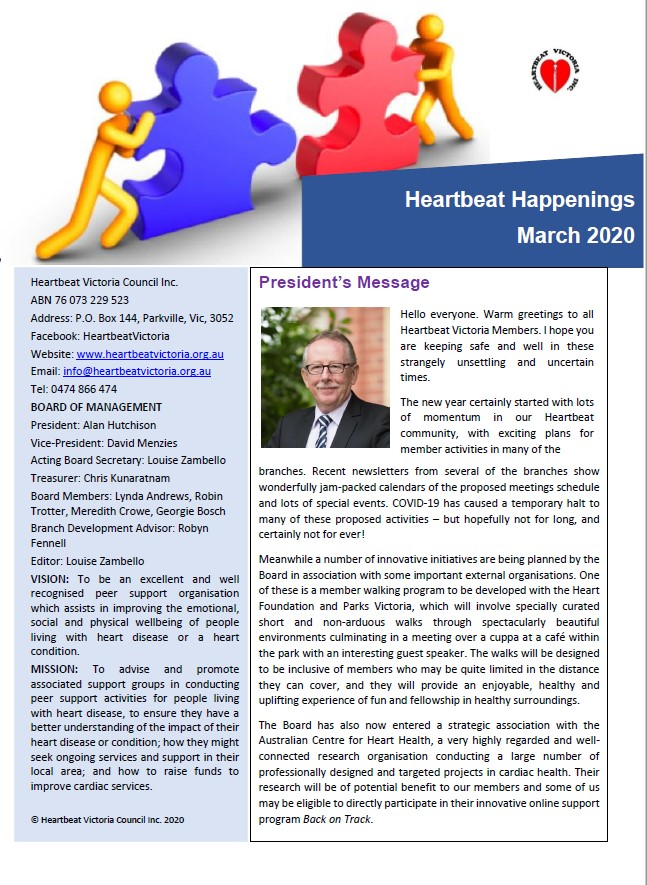 Heartbeat Happenings March 2020